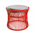 Ottoman fauteuil Acapulco Rouge