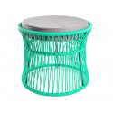 Ottoman fauteuil Acapulco Turquoise
