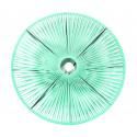 Plafonnier en fil vert d'eau