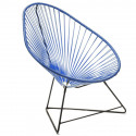 Acapulco Night Blue Chair and Black frame