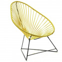 Acapulco Yellow Mustard Chair and Black frame