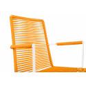 Chaise Design avec accoudoir Blanc