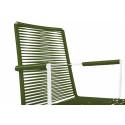 White Dining armrest chair