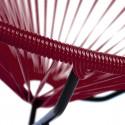 Zoom fauteuil à bascule Acapulco Bordeaux