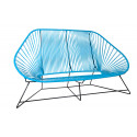 sky blue acapulco sofa 3 seats