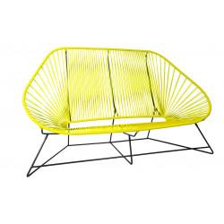 Le fauteuil acapulco cuir et bois - Canape acapulco ...