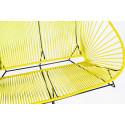 Yellow acapulco outdoor sofa zoom