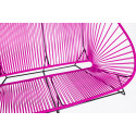 Magenta acapulco outdoor sofa zoom