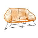 orange acapulco sofa 3 seats