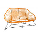 Orange acapulco Sofa 3 Sitze