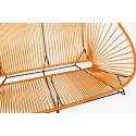 orange acapulco outdoor sofa zoom