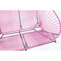 Pink acapulco outdoor sofa zoom