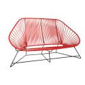 Red acapulco sofa 3 seats