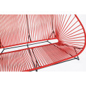 Red acapulco outdoor sofa zoom