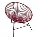 fauteuil Huatulco Bordeaux
