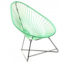 Acapulco Green Turquoise Chair and Black frame