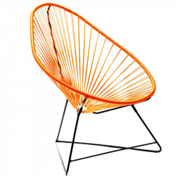 Acapulco Orange Chair and Black frame