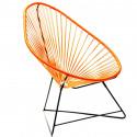 Orange Acapulco Stuhl Schwarz Struktur