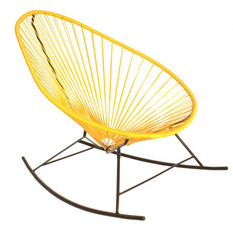Yellow Acapulco rocking chair