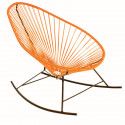 orange Acapulco rocking chair