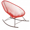 Red Acapulco rocking chair