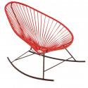 fauteuil à bascule Acapulco Rouge