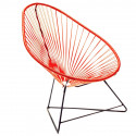 Acapulco Red Chair and Black frame