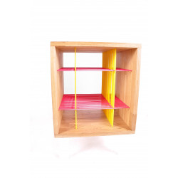 Shelf pink and yellow