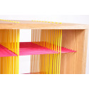 Shelf pink and yellow zoom
