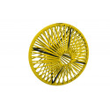 Lampe suspension Wixit ronde design Jaune Moutarde