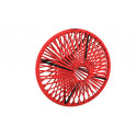 Lampe suspension Wixit ronde design Rouge