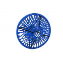 Lampe suspension Wixit ronde design bleu nuit