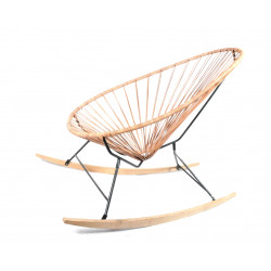 leather wood rocker Acapulco Chair