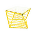 Yellow square side table