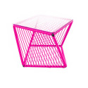 Magenta square side table