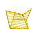 mesa cuadrada auxiliar Limon Amarillo