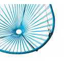 Details of sky blue Acapulco hanging chair