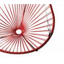 détail fauteuil suspendu Acapulco Rouge