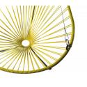 détail fauteuil suspendu Acapulco Jaune Moutarde