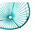 Details of Turquoise Acapulco hanging chair