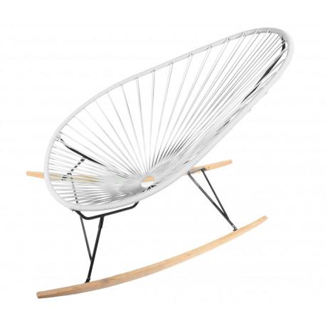 fauteuil à bascule ski bois Acapulco Blanc