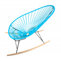 sky blue Acapulco wood rocker chair