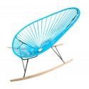 sky blue Acapulco wood rocker chair