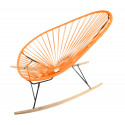 orange Acapulco wood rocker chair