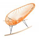 orange Acapulco wood rocker chair
