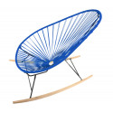 Night Blue Acapulco wood rocker chair