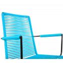 chaise fil avec accoudoir scoubidou Bleu