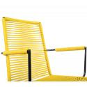 Lemon Yellow Dining armrest chair