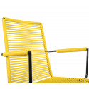 Chaise avec accoudoir Jaune Moutarde