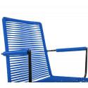chaise fil Design avec accoudoir Bleu Nuit